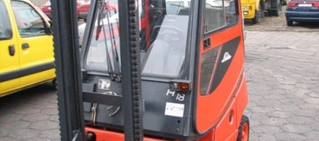 Wózek widłowy Linde H 18 D (diesel) z kabiną - seria 350