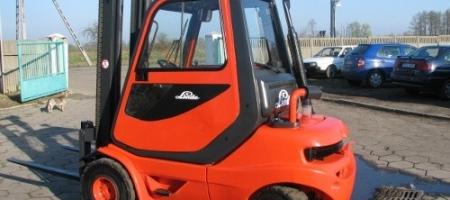 Wózek widłowy Linde H 30 D (diesel) z kabiną - seria 351