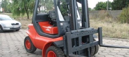 Wózki widłowe Linde H 45 D (diesel) podwójne gumy - seria 352