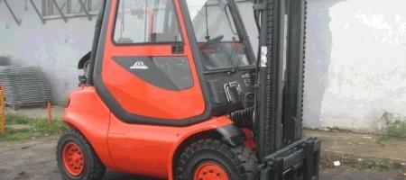 Wózki widłowe Linde H 45 gazowe kabina